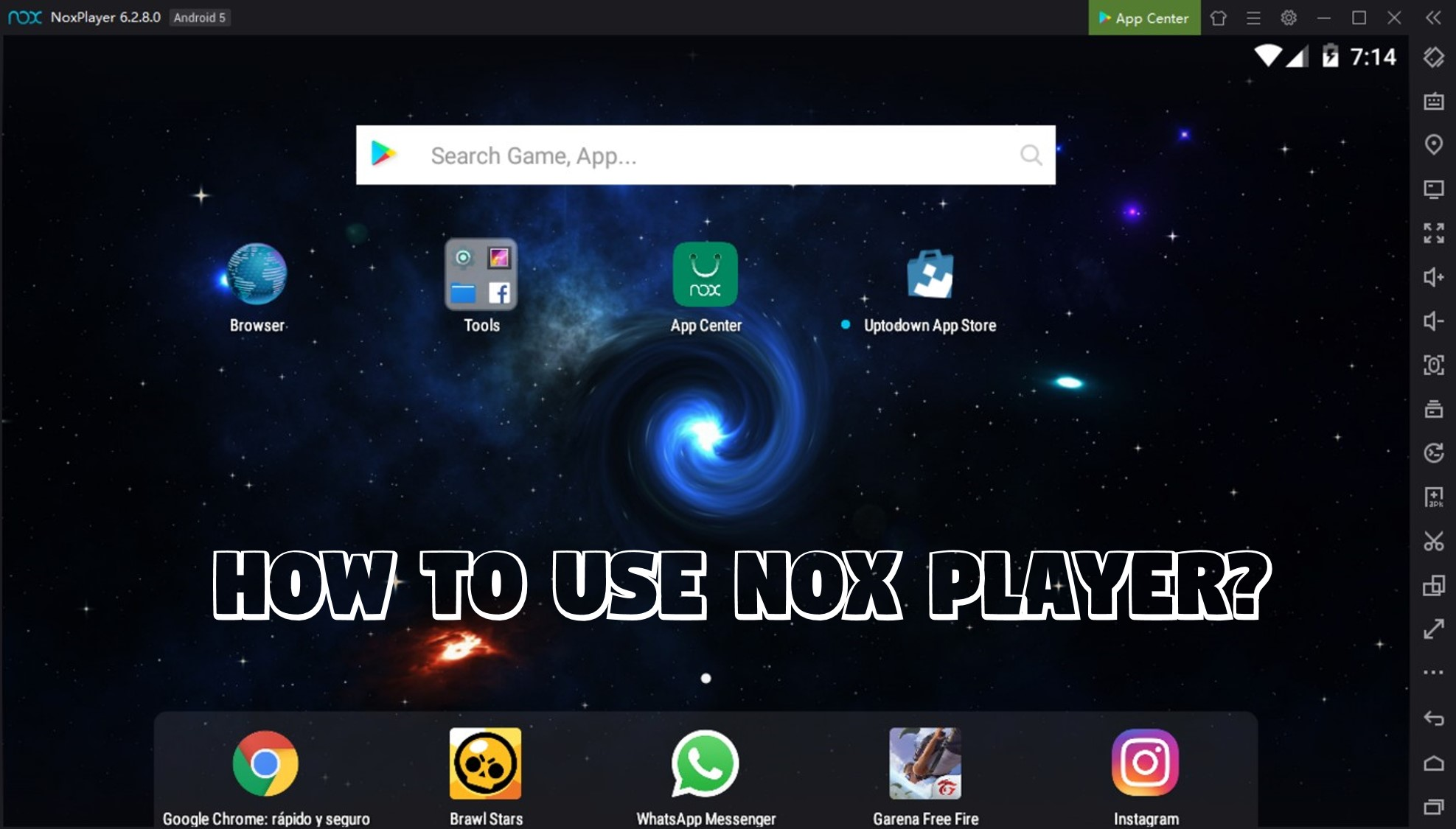 How to use Nox player